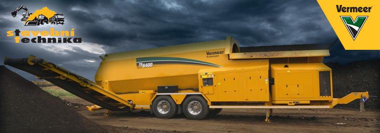 Ve firmě vložili důvěru do strojů Vermeer. Vyrábí kvalitní kompost ištěrk